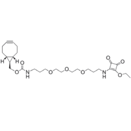 Amino-reactive linker for click-chemistry bioconjugation reactions, containing a bicyclononyne group and a PEG spacer.